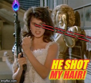 Spaceballs: Bad Hair Day | I | image tagged in spaceballs,star wars,spoof,bad hair day,funny,meme | made w/ Imgflip meme maker