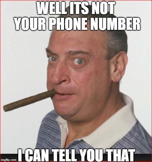 WELL ITS NOT YOUR PHONE NUMBER I CAN TELL YOU THAT | made w/ Imgflip meme maker