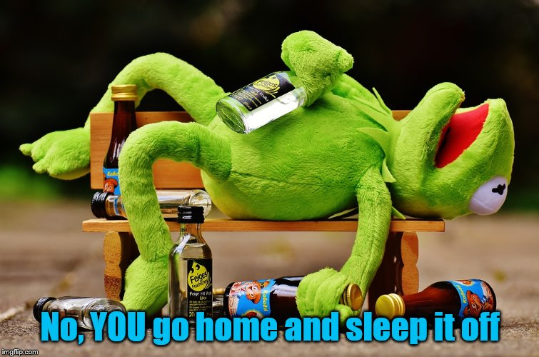 No, YOU go home and sleep it off | made w/ Imgflip meme maker