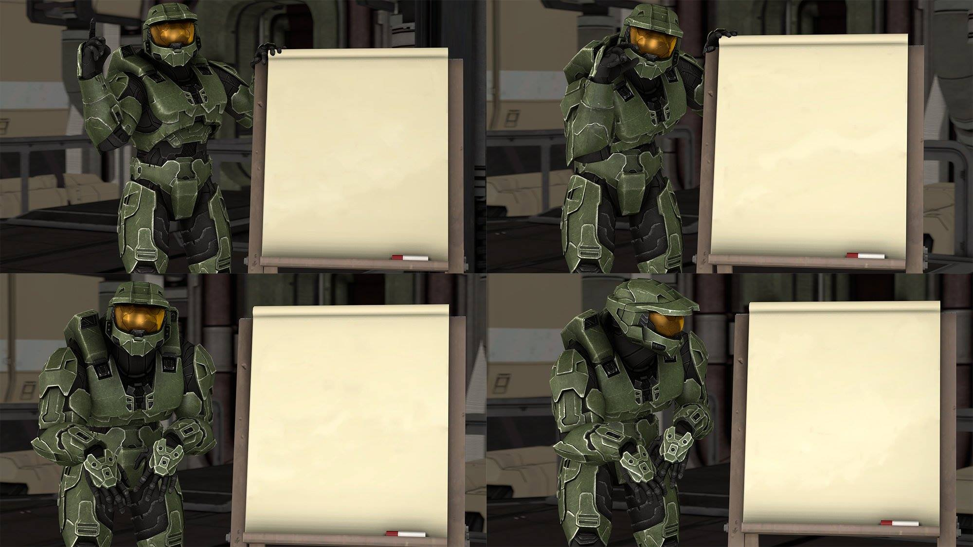 Master Chief S Plan Despicable Me Halo Blank Template