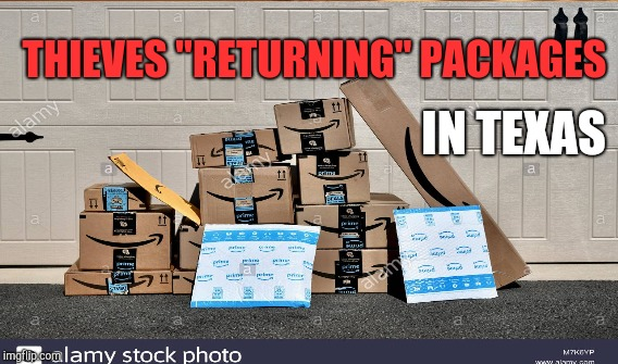 "PACKAGE THEFTS DROP | THIEVES ""RETURNING"" PACKAGES IN TEXAS 