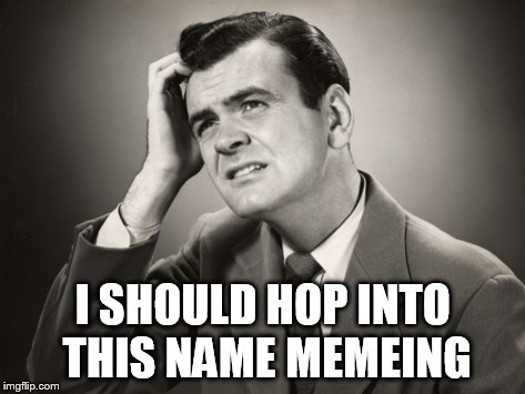I SHOULD HOP INTO THIS NAME MEMEING | made w/ Imgflip meme maker