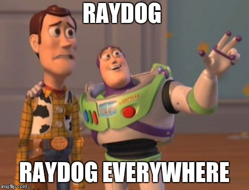X, X Everywhere Meme | RAYDOG RAYDOG EVERYWHERE | image tagged in memes,x,x everywhere,x x everywhere | made w/ Imgflip meme maker