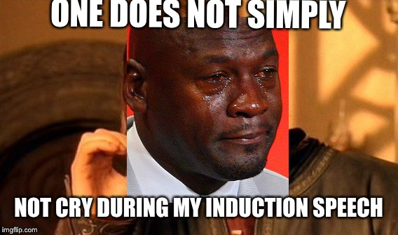 Dead meme week! A thecoffeemaster and SilicaSandwhich event! March 23-29) | ONE DOES NOT SIMPLY NOT CRY DURING MY INDUCTION SPEECH | image tagged in memes,one does not simply,dead memes week | made w/ Imgflip meme maker