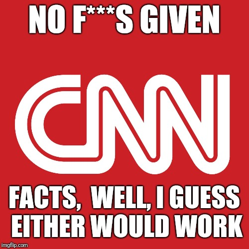 None Given | NO F***S GIVEN FACTS,  WELL, I GUESS EITHER WOULD WORK | image tagged in memes,biased media,cnn fake news,no,facts | made w/ Imgflip meme maker