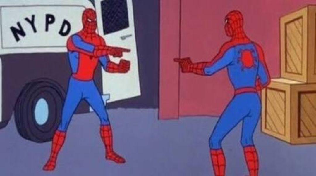 Blank Meme Man Spider Man Poin...