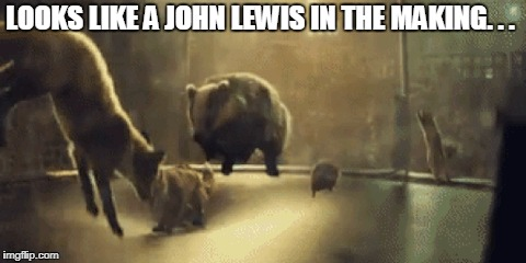 LOOKS LIKE A JOHN LEWIS IN THE MAKING. . . | made w/ Imgflip meme maker