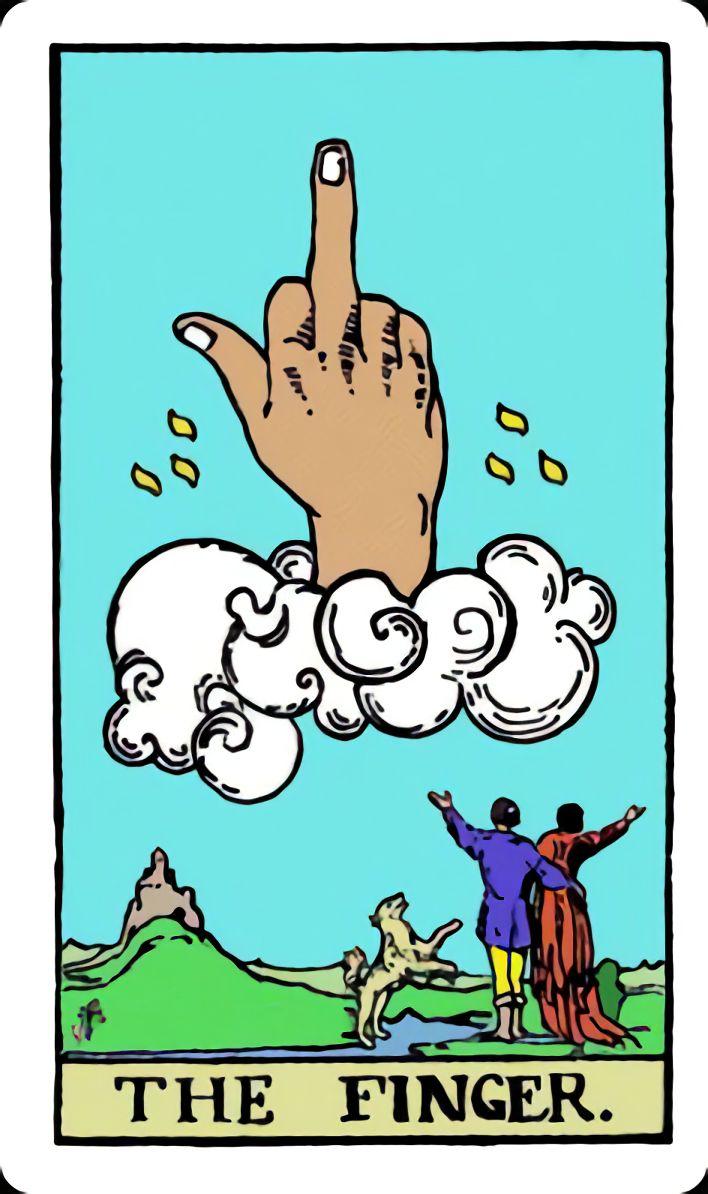 High Quality The Finger Tarot Card Blank Meme Template