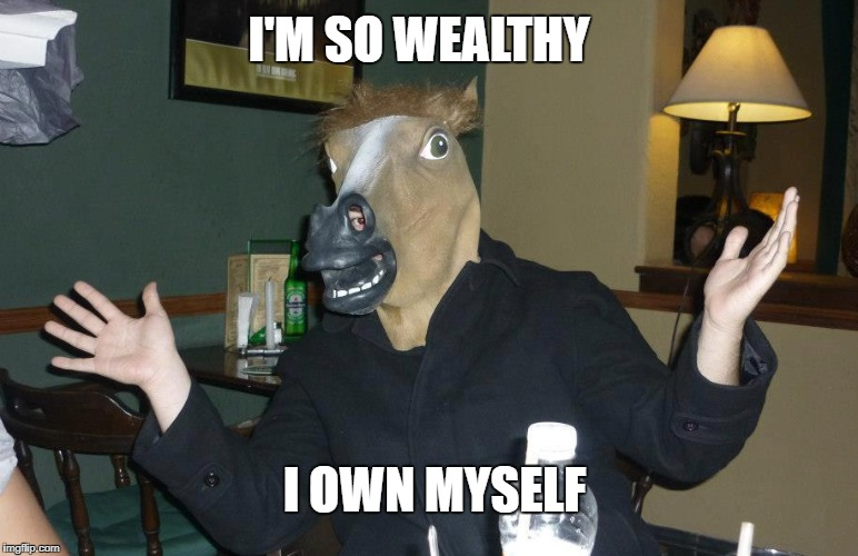 I OWN MYSELF I'M SO WEALTHY | made w/ Imgflip meme maker