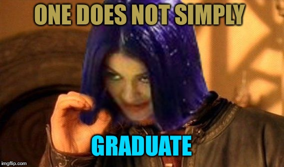 Kylie Does Not Simply | ONE DOES NOT SIMPLY GRADUATE | image tagged in kylie does not simply | made w/ Imgflip meme maker