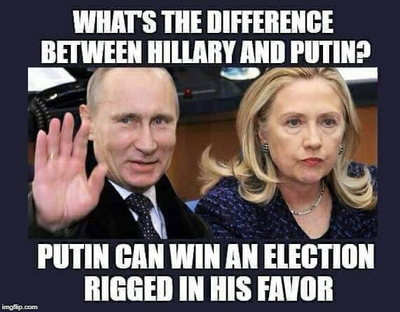lol | image tagged in vladimir putin,hillary clinton,scumbag,crooked hillary | made w/ Imgflip meme maker