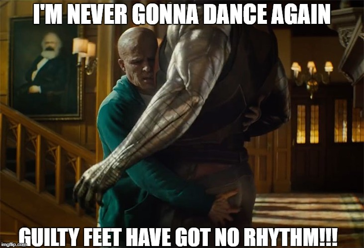 Careless Whisper | I'M NEVER GONNA DANCE AGAIN GUILTY FEET HAVE GOT NO RHYTHM!!! | image tagged in deadpool2,funny,dance | made w/ Imgflip meme maker