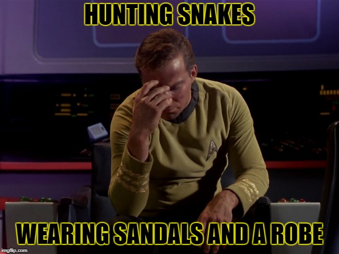 HUNTING SNAKES WEARING SANDALS AND A ROBE | made w/ Imgflip meme maker