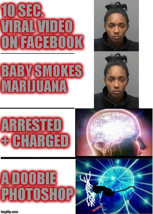 "North Carolina woman performs ""puff puff pass"" maneuver with her baby while it inhales and exhales marijuana in Facebook video 