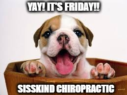 YAY! IT'S FRIDAY!! | YAY! IT'S FRIDAY!! SISSKIND CHIROPRACTIC | image tagged in chiropractor | made w/ Imgflip meme maker