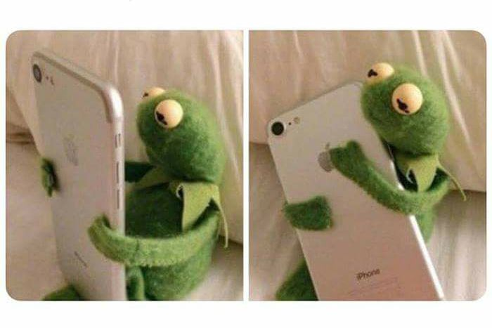 Kermit Gets A Good Text Message Blank Template - Imgflip