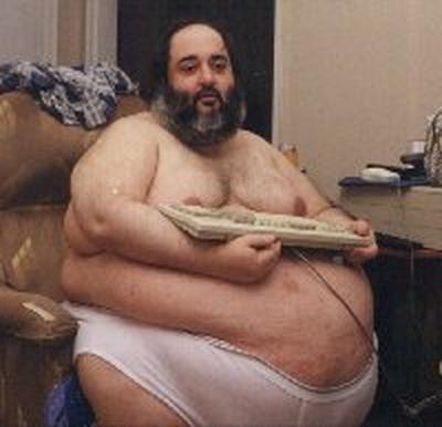 Fat Guy Keyboard Warrior Blank Template - Imgflip
