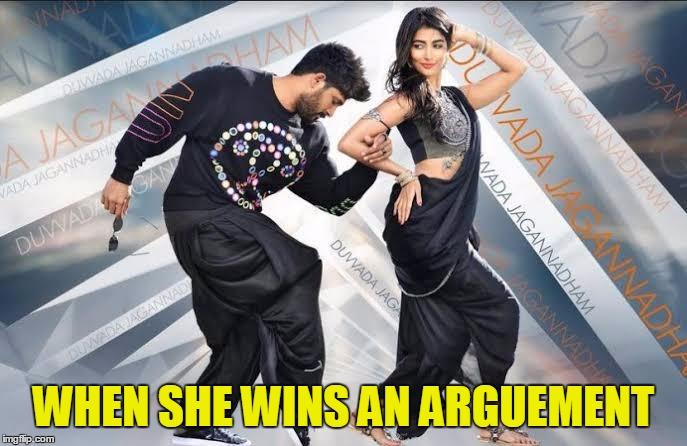 WHEN SHE WINS AN ARGUEMENT | image tagged in dj ish | made w/ Imgflip meme maker