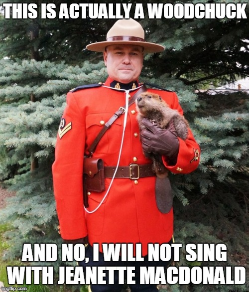 THIS IS ACTUALLY A WOODCHUCK AND NO, I WILL NOT SING WITH JEANETTE MACDONALD | made w/ Imgflip meme maker