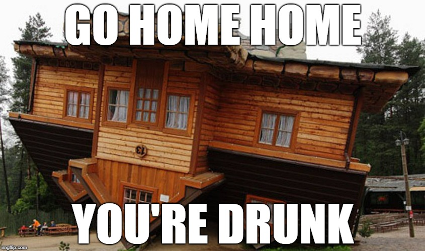 GO HOME HOME YOU'RE DRUNK | image tagged in house | made w/ Imgflip meme maker