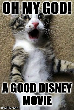 OH MY GOD! A GOOD DISNEY MOVIE | image tagged in cat meme | made w/ Imgflip meme maker