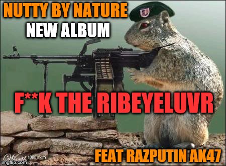 NUTTY BY NATURE FEAT RAZPUTIN AK47 NEW ALBUM F**K THE RIBEYELUVR | made w/ Imgflip meme maker