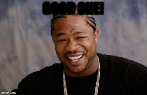 Yo Dawg Heard You Meme | GOOD ONE! | image tagged in memes,yo dawg heard you | made w/ Imgflip meme maker