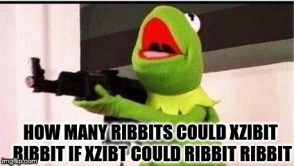 HOW MANY RIBBITS COULD XZIBIT RIBBIT IF XZIBT COULD RIBBIT RIBBIT | made w/ Imgflip meme maker