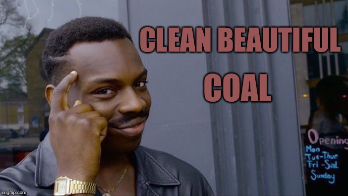 Roll Safe Think About It Meme | CLEAN BEAUTIFUL COAL | image tagged in memes,roll safe think about it | made w/ Imgflip meme maker
