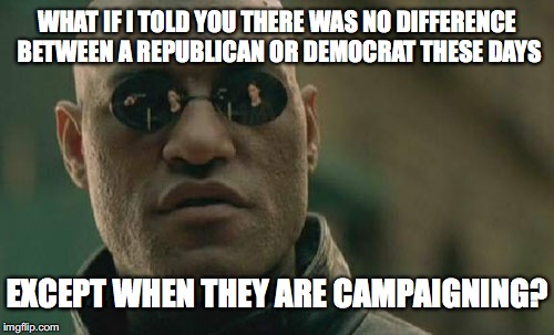 Image result for no difference between democrats and republicans