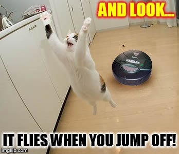 AND LOOK... IT FLIES WHEN YOU JUMP OFF! | made w/ Imgflip meme maker