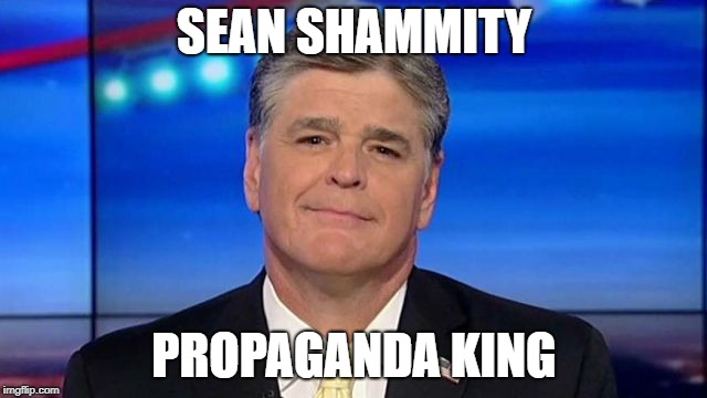 SEAN SHAMMITY PROPAGANDA KING | image tagged in sean hannity,propaganda | made w/ Imgflip meme maker