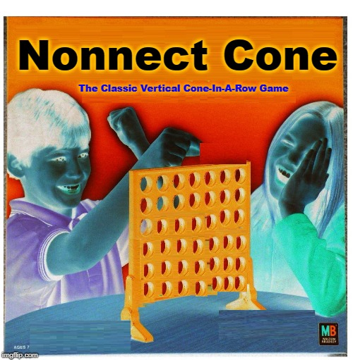 Nonnect Cone The Classic Vertical Cone-In-A-Row Game | image tagged in blank fonnect cour | made w/ Imgflip meme maker