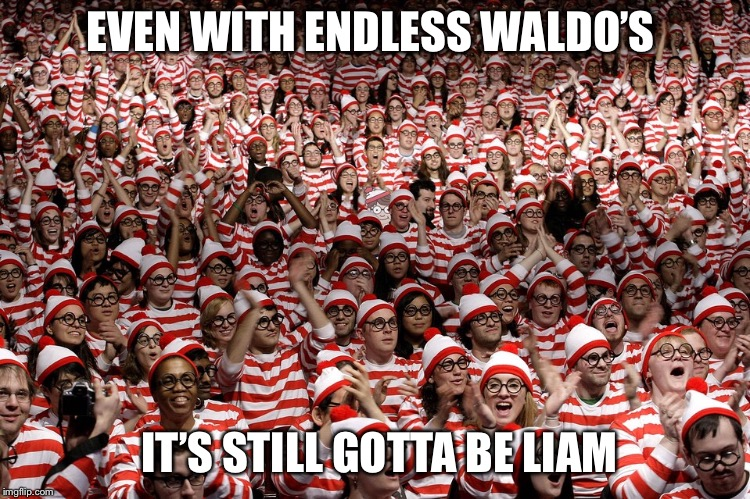 EVEN WITH ENDLESS WALDO'S IT'S STILL GOTTA BE LIAM | made w/ Imgflip meme maker
