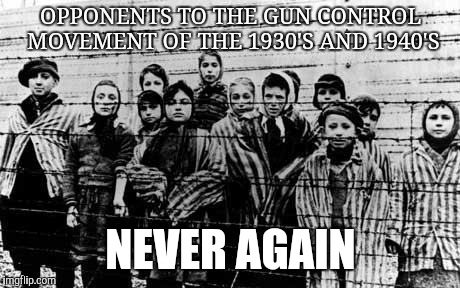 OPPONENTS TO THE GUN CONTROL MOVEMENT OF THE 1930'S AND 1940'S NEVER AGAIN | image tagged in opponents to gun control,the never again movement | made w/ Imgflip meme maker