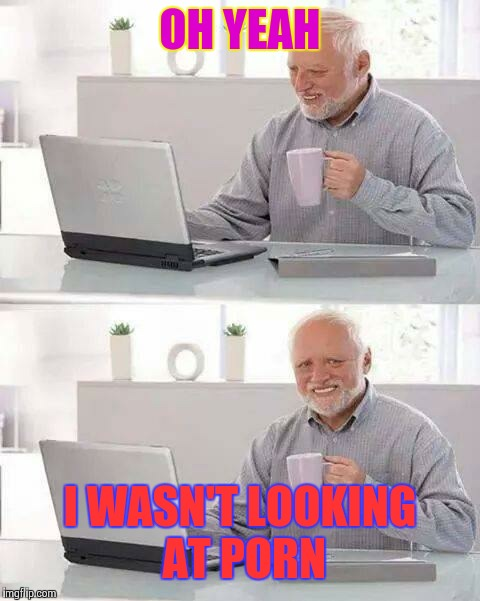 Hide the Pain Harold Meme | OH YEAH I WASN'T LOOKING AT PORN | image tagged in memes,hide the pain harold | made w/ Imgflip meme maker