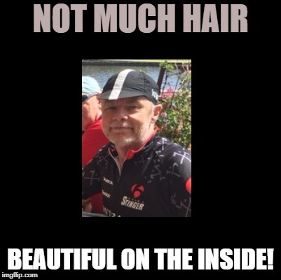 NOT MUCH HAIR BEAUTIFUL ON THE INSIDE! | made w/ Imgflip meme maker