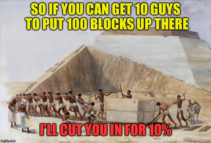 SO IF YOU CAN GET 10 GUYS TO PUT 100 BLOCKS UP THERE I'LL CUT YOU IN FOR 10% | made w/ Imgflip meme maker