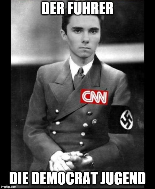 DER FUHRER DIE DEMOCRAT JUGEND | image tagged in david hogg | made w/ Imgflip meme maker
