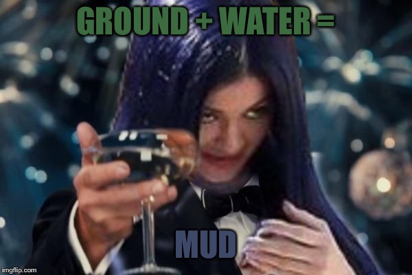 Kylie Cheers | GROUND + WATER = MUD | image tagged in kylie cheers | made w/ Imgflip meme maker