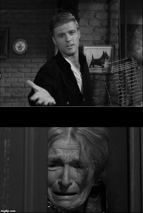 Robert Redford in Twilight Zone as Mr. Death | . | image tagged in robert redford in twilight zone as mr death | made w/ Imgflip meme maker