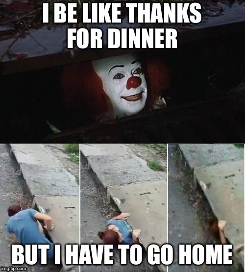 I BE LIKE THANKS FOR DINNER BUT I HAVE TO GO HOME | image tagged in penny wise pick up lines | made w/ Imgflip meme maker