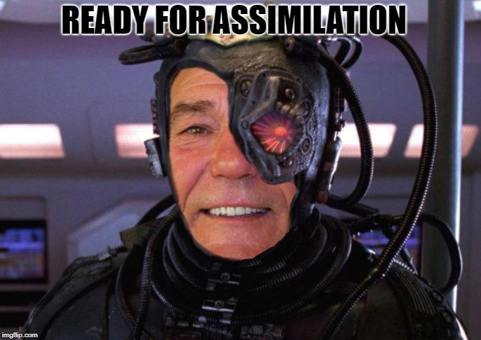 borg coollew | READY FOR ASSIMILATION | image tagged in borg coollew | made w/ Imgflip meme maker