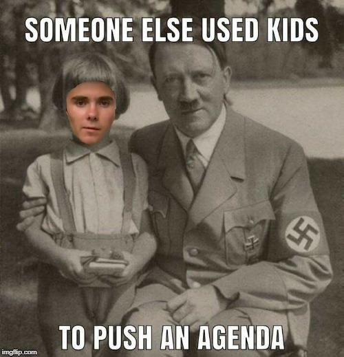 He went by David Hoggmann back then. | image tagged in david hogg | made w/ Imgflip meme maker
