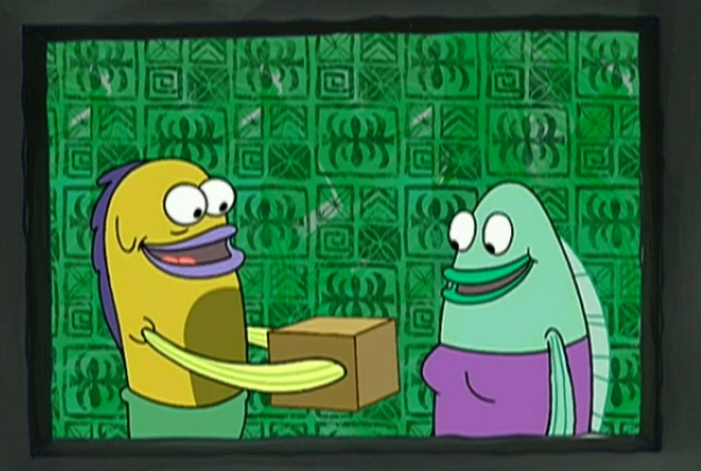 High quality spongebob box blank meme template