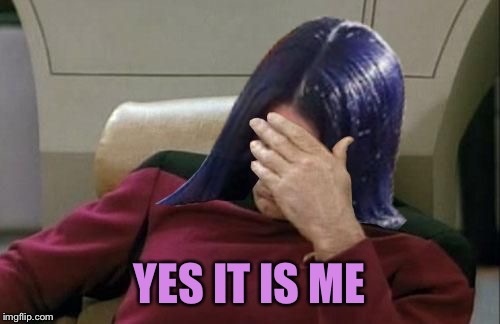 Mima facepalm | YES IT IS ME | image tagged in mima facepalm | made w/ Imgflip meme maker
