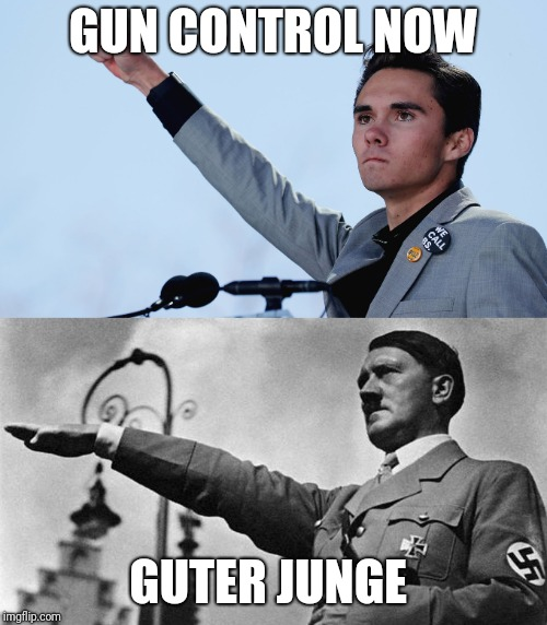 Gun control now says the useful idiot | GUN CONTROL NOW GUTER JUNGE | image tagged in david hogg,gun control,2nd amendment,molon labe,useful idiots | made w/ Imgflip meme maker