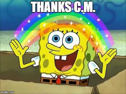 THANKS C.M. | made w/ Imgflip meme maker