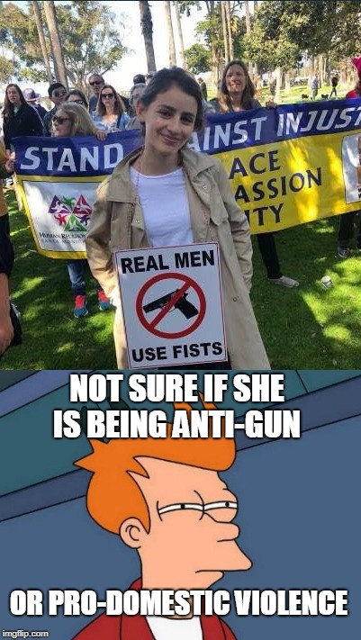 "I wouldn't be surprised: ""Wife-beaters' Lives Matter!"" 