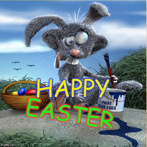 Easter Bunny | HAPPY EASTER | image tagged in easter,easter bunny,happy easter | made w/ Imgflip meme maker